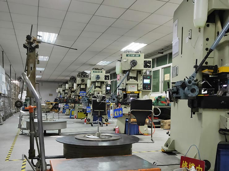 Metal stamping department