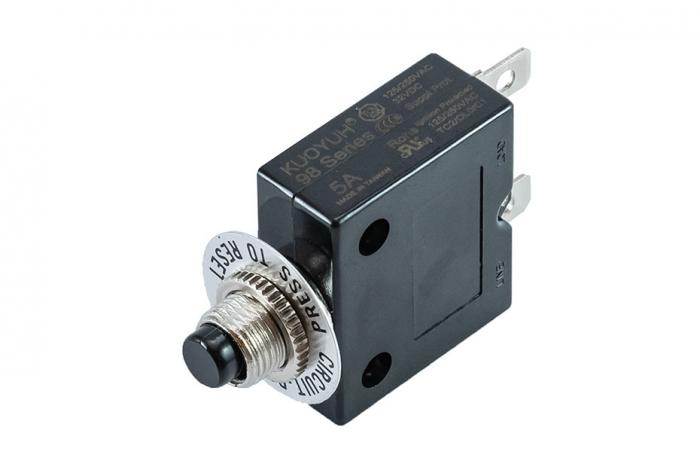 5 AMP Push Button Reset Circuit Breaker | 98 Series