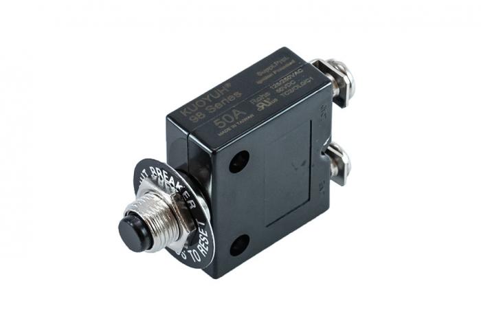 98 Series: 50 amp Push Button Marine Circuit Breaker
